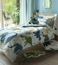 Catherine Lansfield Kids Dinosaur Single Duvet Quilt Cover Set