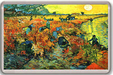 VINCENT VAN GOGH - THE RED VINEYARD AT ARLES 1888 FRIDGE MAGNET IMAN NEVERA