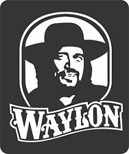 Waylon Jennings Decal Sticker Very FAST FREE SHIPPING!