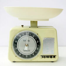Vintage Retro 1960s Tower Cream Enamel Kitchen Scales
