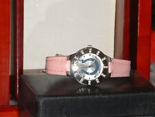 Women's Silver & Pink Gametime Rhinestone Indianapolis Colts Sports Watch