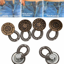 6PCS Men/Women Expanders Jeans Pants Instant Fix Waist Extender Metal Button