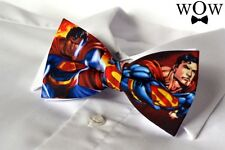 "Superman KIDS SIZE solid 2 layer party wedding pre-tied ""WoW bowties"" bow tie"