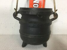 Cast Iron Bean Pot Kettle Hanging Decorative 5.5 X4.5 Inches