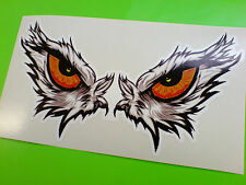 EAGLE EYES Large Car Motorcycle Helmet Stickers Decals 1 off Pair 170mm