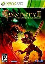 Xbox 360 Divinity II The Dragon Knight Saga Cd Soundtrack Inside New