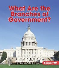 What Are the Branches of Government? by Jennifer Boothroyd (2015, Paperback)