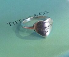 Tiffany & Co Large Please Return To Heart Band Ring Size 7 Sterling Silver 925