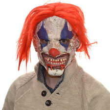 LATTICE capo completo Testa Spaventoso Clown Horror Parrucca Cosplay Halloween Maschera