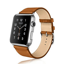 Replacement Genuine Leather Wrist Watch Strap Band for Apple Watch Series 1 / 2