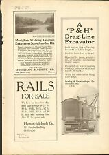 1916 VINTAGE MAGAZINE AD #00146 - P&H - PAWLING AND HARNISCHFEGER EXCAVATOR