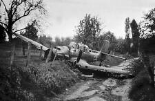WWII B&W Photo Luftwaffe Ju87 Stuka Crash  WW2  / 6033