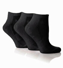 Womens Genuine Pringle Cushioned 3 Pack Black Secret Trainer Socks Size 4-8 UK