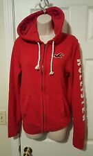 Hollister by Abercrombie Red Jacket Hoodie Full Zip Up Sz Small