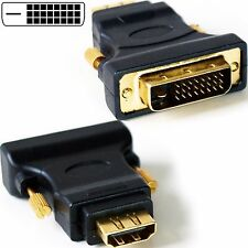 DVI-D Male to HDMI Female Socket Adapter -Video Monitor Converter Laptop/PC Link