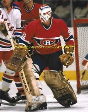 DENIS HERRON Defends NET 8x10 Photo MONTREAL CANADIENS Star GOALIE 1979-82 WoW