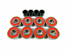 Red Color Abec7 (8 PACK) 8mm LONGBOARD SKATEBOARD BEARINGS Roller Skate Bearing