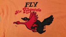 """Vintage Adult Humor """"Fly Air Polynesie"""" T Shirt Size 40"""