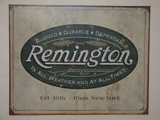 "Vintage Style ""Reminton Rugged Durable Dependable""  Metal Sign Man Garage S67"