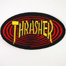 """Skateboard Thrasher Logo 2.5"""" x 4.2"""" Sew Ironed On Badge Embroidery Patch"""