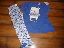 NWT Gymboree Girls Everyday Basics Top/Leggings Size 3T purple/bear NEW