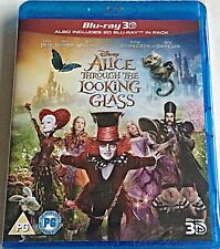 Alice Through the Looking Glass Blu-ray 3D + 2D Blu-ray New.