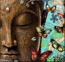Modern Abstract hand-draw Art Oil Painting:merciful Buddha large Canvas No frame