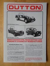 DUTTON Phaeton S3 Melos & Sierra orig 1982 UK Mkt Kit Car leaflet brochure