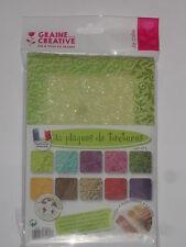 10 plaques de texture assortiment N°1 pour pâte polymère, fimo