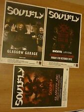 Soulfly Scottish tour Glasgow concert gig posters x 3