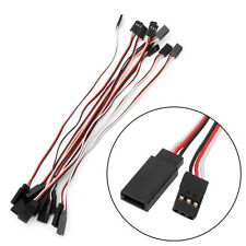 10pcs 200mm Servo Extension Lead Wire Cable Cord For Futaba JR Male To Female