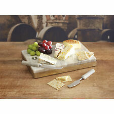 Stunning Quality Artesà Marble and Wood Cheese Board & Knife Set FREEPOST