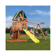 Swing Kids Playset Family Outdoor Playground Backyard Gym  Jungle Hardware Kit
