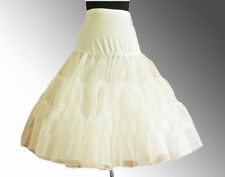 "IVORY 26"" Retro Swing 50s 80s Tutu Underskirt Petticoat Wedding Rockabilly"