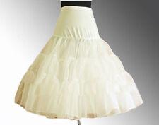 "IVORY 26"" Retro Swing 50s 80s Tutu Underskirt Petticoat Wedding Rockabilly"