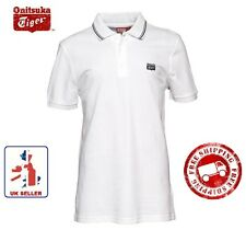 ONITSUKA TIGER Mens Classic Short Sleeve White Fashion Polo Shirt T Shirt S BNWT