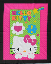 SANRIO HELLO KITTY OL-NEON EXPRESSION  100% COTTON FABRIC PANEL / WALLHANGING