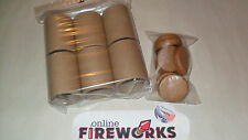 6 Craft 2 x 3 x 1/8 inch Paper Fireworks Tubes + 12 Free Plugs + Free Shipping