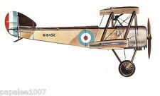 "Model Airplane Plans (FF): Sopwith Pup 1/12 scale 26½""ws for .5-.8cc engine"