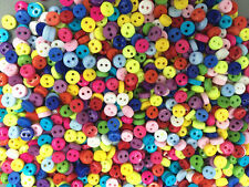 500pcs FREE Mixed Mini Colors Round Shape Resin Buttons lots 2 holes sewing 6mm