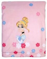 Disney Princess Cinderella Velboa Plush Blanket w/Coral Fleece by Disney Baby