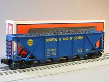 LIONEL NORFOLK & WESTERN 4 BAY HOPPER W COAL LOAD train ns heritage ore 6-81435