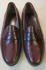 MENS OX BLOOD LEATHER PENNY LOAFER SHOES SIZE 10.5D BY SEBAGO HANDMADE IN USA