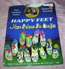 VTG 1989 KAPPIE CRAFT BOOK N PATTERNS Happy Feet HOW TO DECORATE TENNIS SHOES
