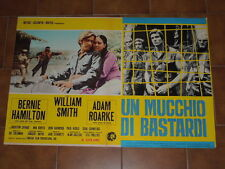 BERNIE HAMILTON-WILLIAM SMITH-A.ROARKE-UN MUCCHIO DI BASTARDI MANIFESTO CINEMA