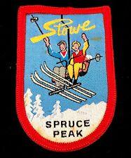 STOWE SPRUCE PEAK Vintage Skiing Ski Patch VERMONT VT Souvenir Travel Resort