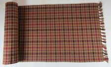 TABLE RUNNER - 13X36 PRIMITIVE SPICE MUSTARD RUST BLACK GREEN PLAID