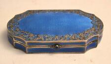 19th Century Austrian Silver and Enamel Compact