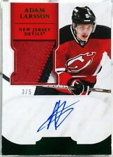 wOw! /5 ADAM LARSSON ROOKIE EMERALD GREEN JERSEY PATCH AUTO DOMINION 2011 11 12