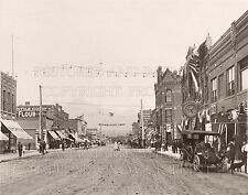 1910 downtown Bozeman Montana MT Eagles Convention Miles City sign photo 5x7 or